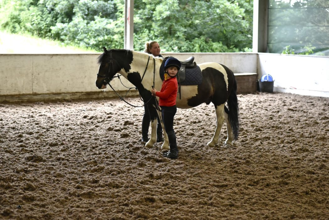 Children riding lesson, trent park equestrian centre, oakwood, london, 2017
