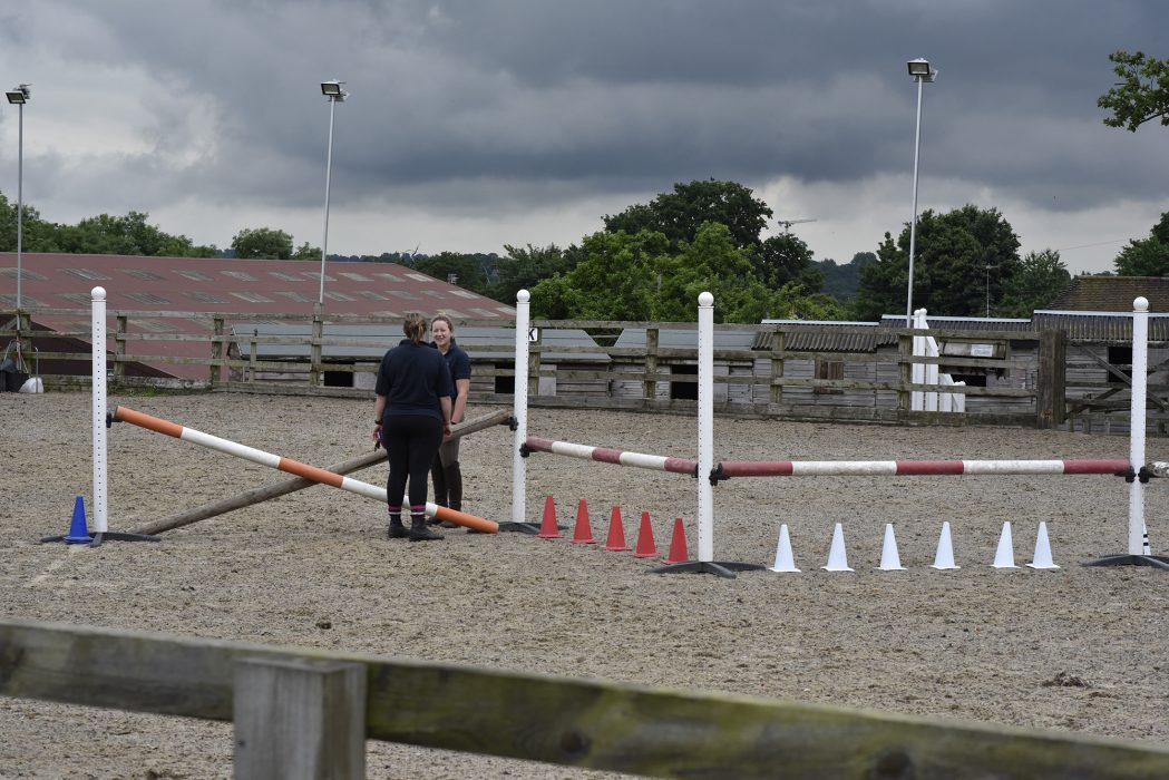 set of jumps in the outdoor arena